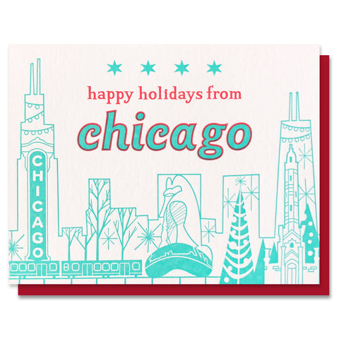 Happy Holidays from Chicago Card