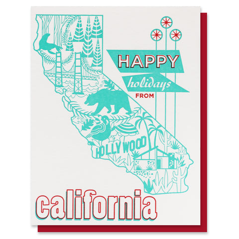 Happy Holidays from California Card