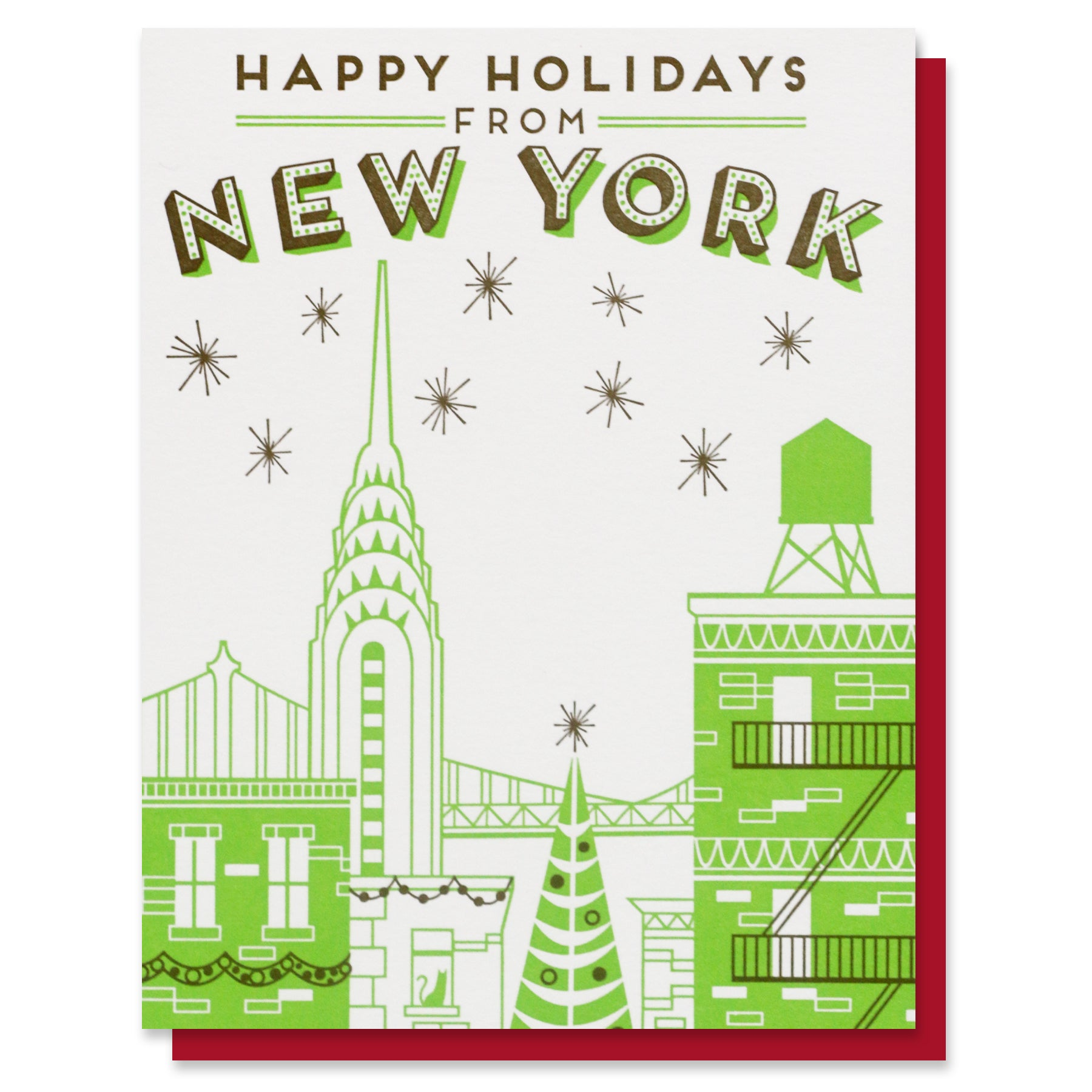 Happy Holidays from New York Card