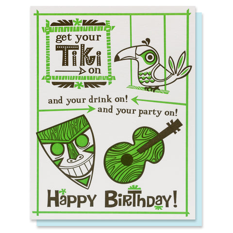 Tiki Birthday Card