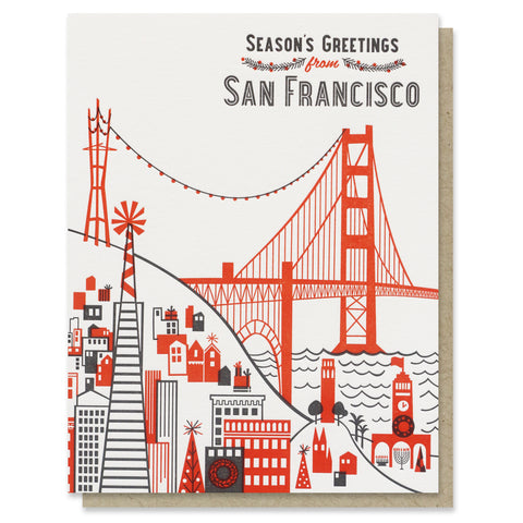 Season's Greetings from San Francisco Card