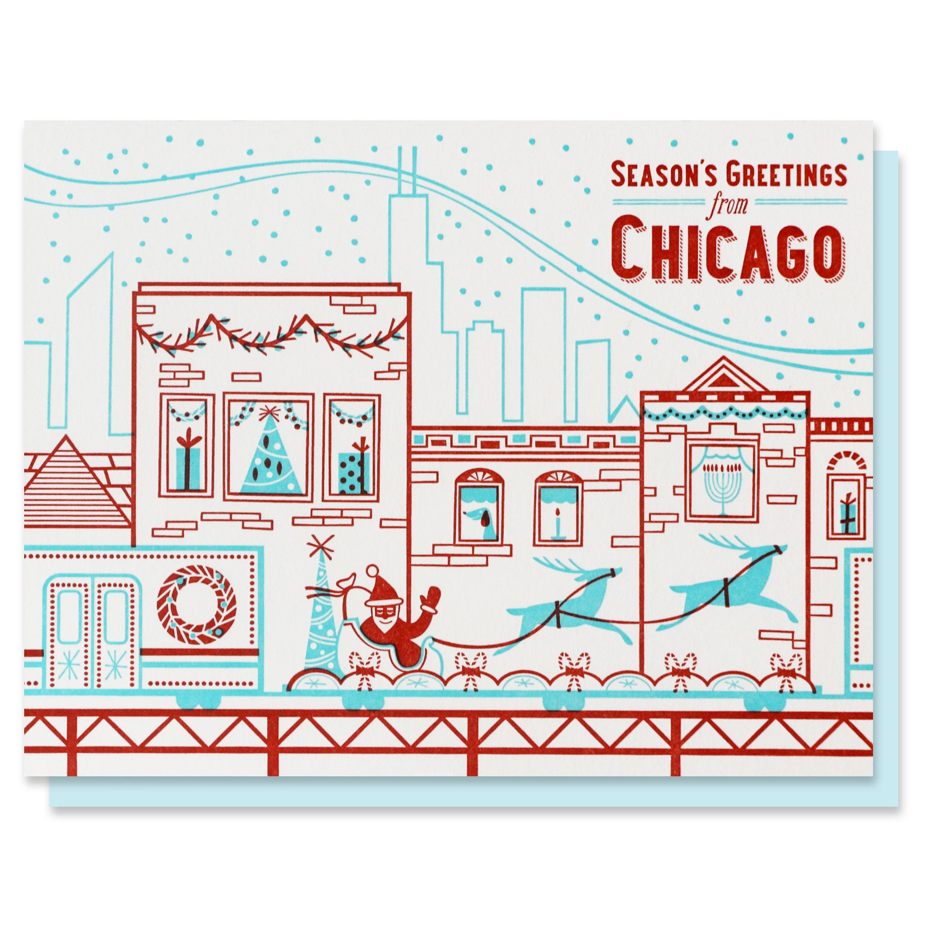 Holiday Chicago CTA Card