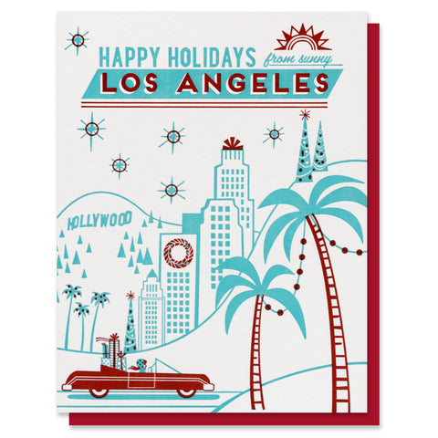Happy Holidays from Los Angeles Card