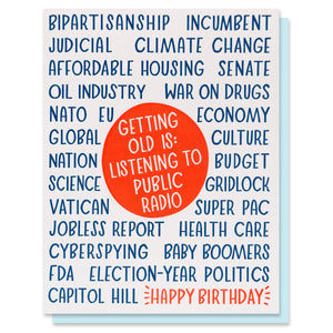 Public Radio Birthday Card