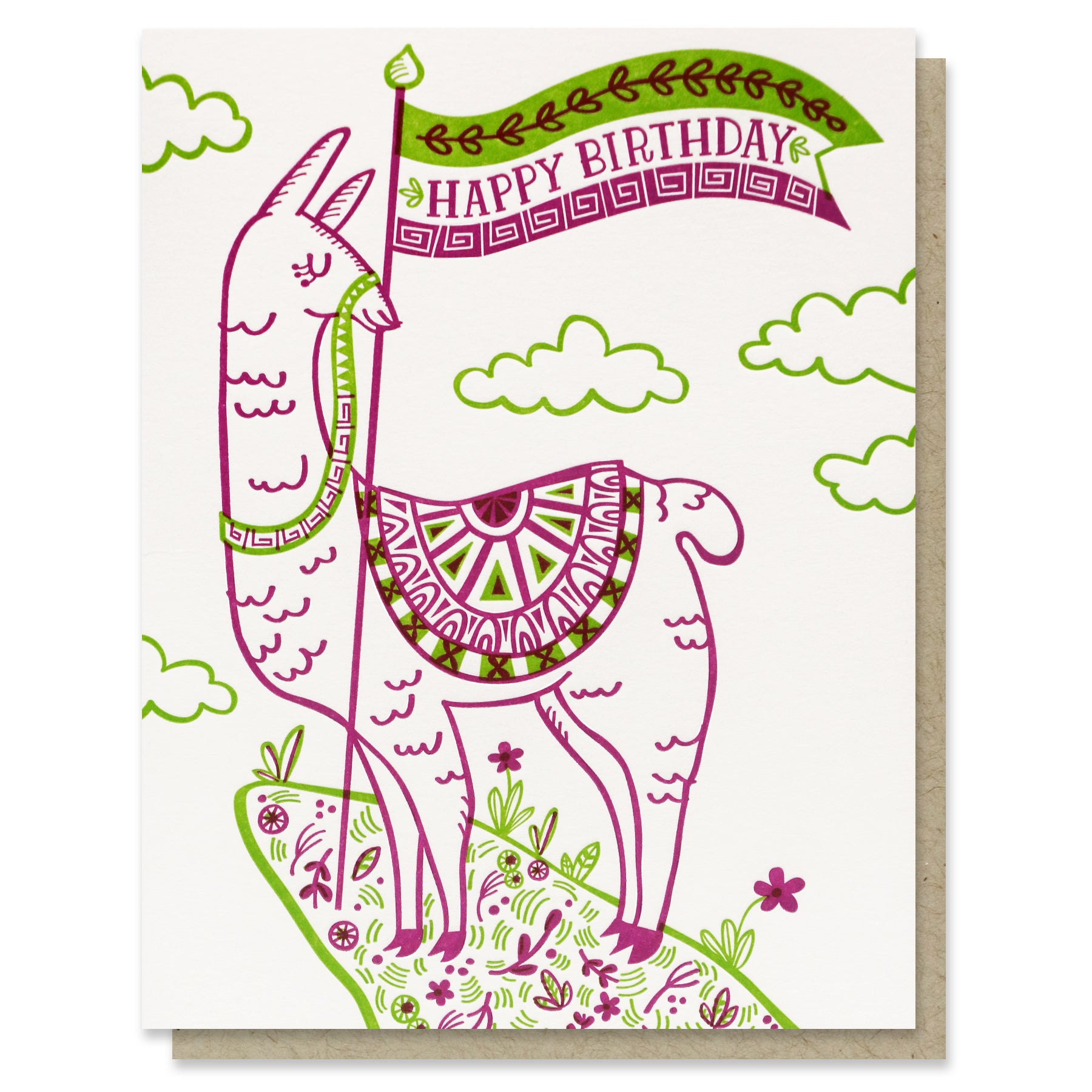 Happy Birthday Llama Card