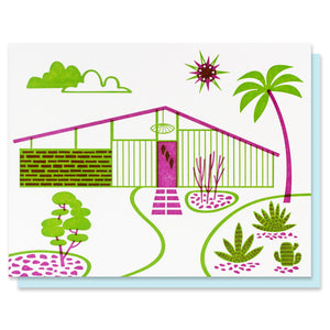 Mid-Century Home II Blank Card - SALE