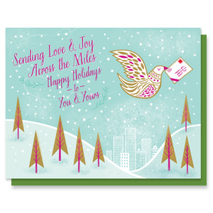 Love and Joy Dove Card