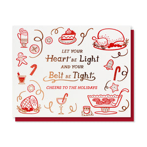 Belt Tight Holiday Card