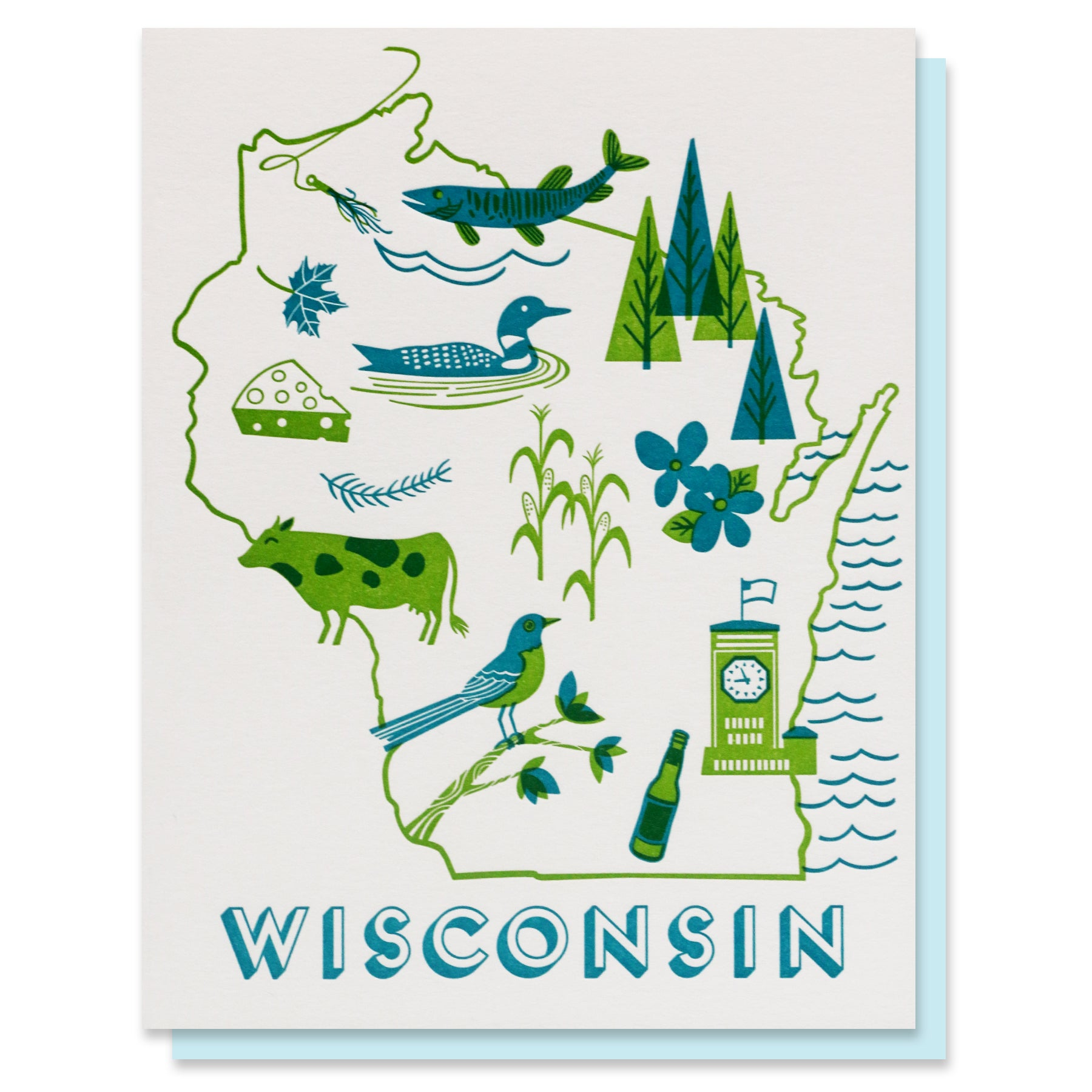 Wisconsin State Love Card
