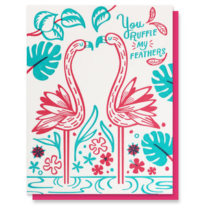 Ruffle Feathers Love Card