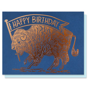 Buffalo Birthday Card