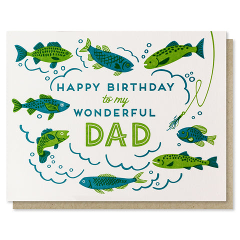 Wonderful Dad Birthday Fish Card