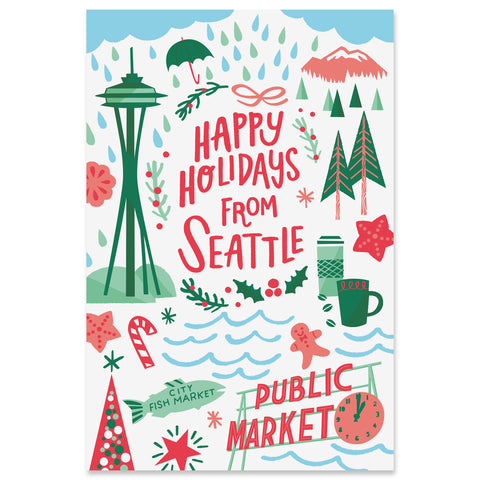 Seattle Holiday Postcard Set
