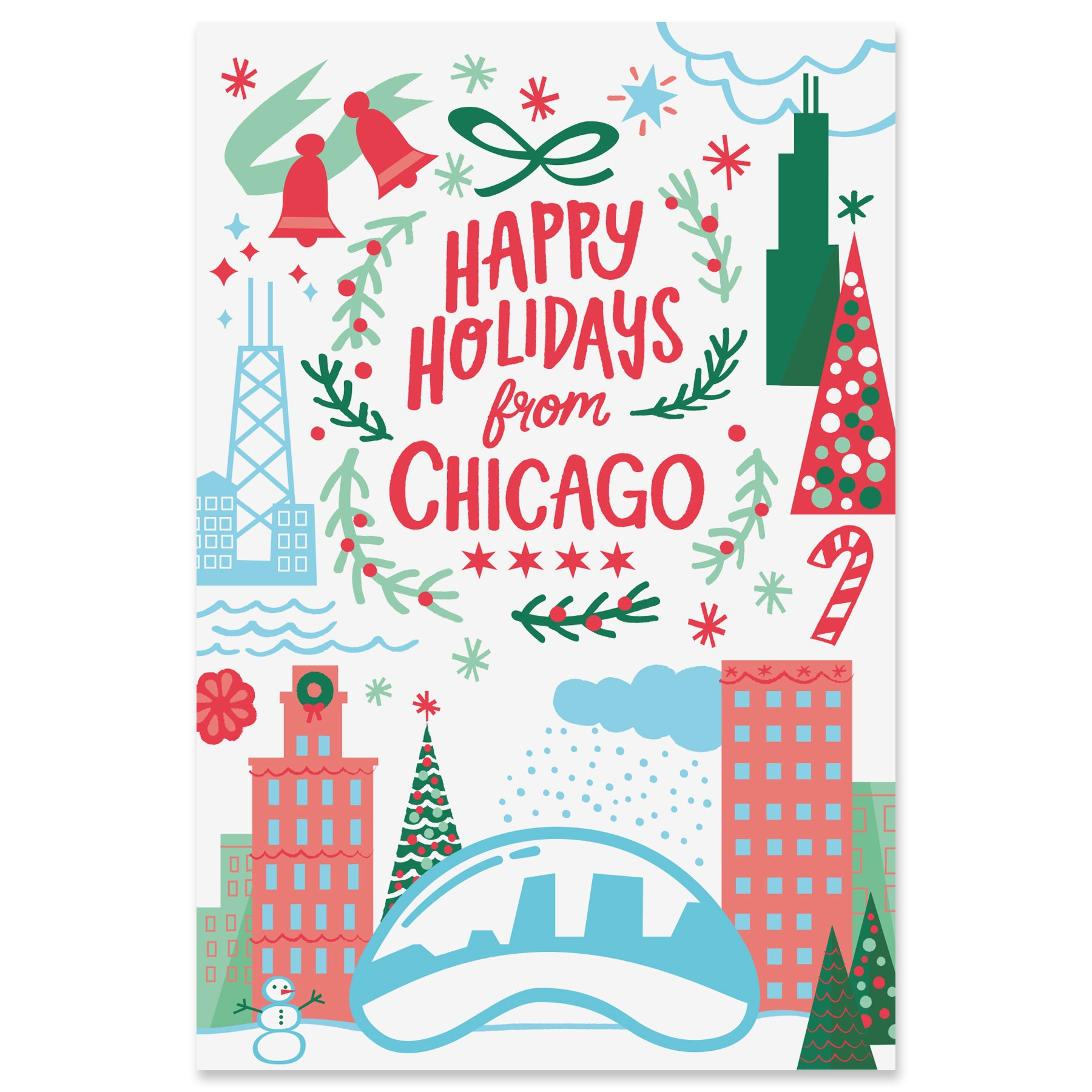 Chicago Holiday Postcard Set