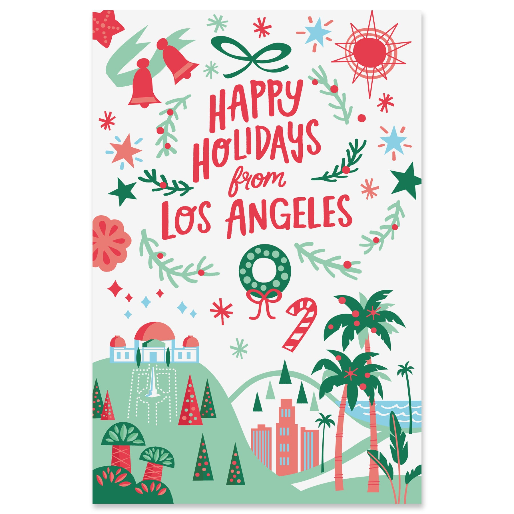 Los Angeles Holiday Postcard Set