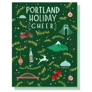 Portland Holiday Cheer Ornament Card