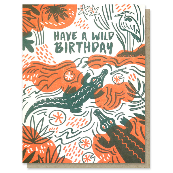 Swamp Birthday Card