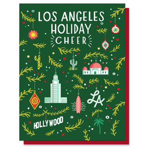 Los Angeles Ornaments Card