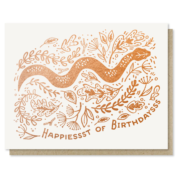 Snake Birthday Card