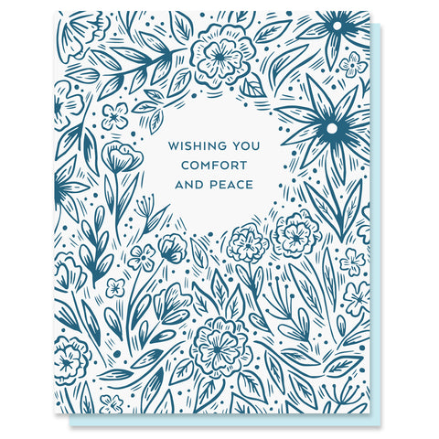 Comfort and Peace Blooms Card