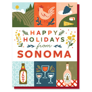 Sonoma Holiday Grid Card