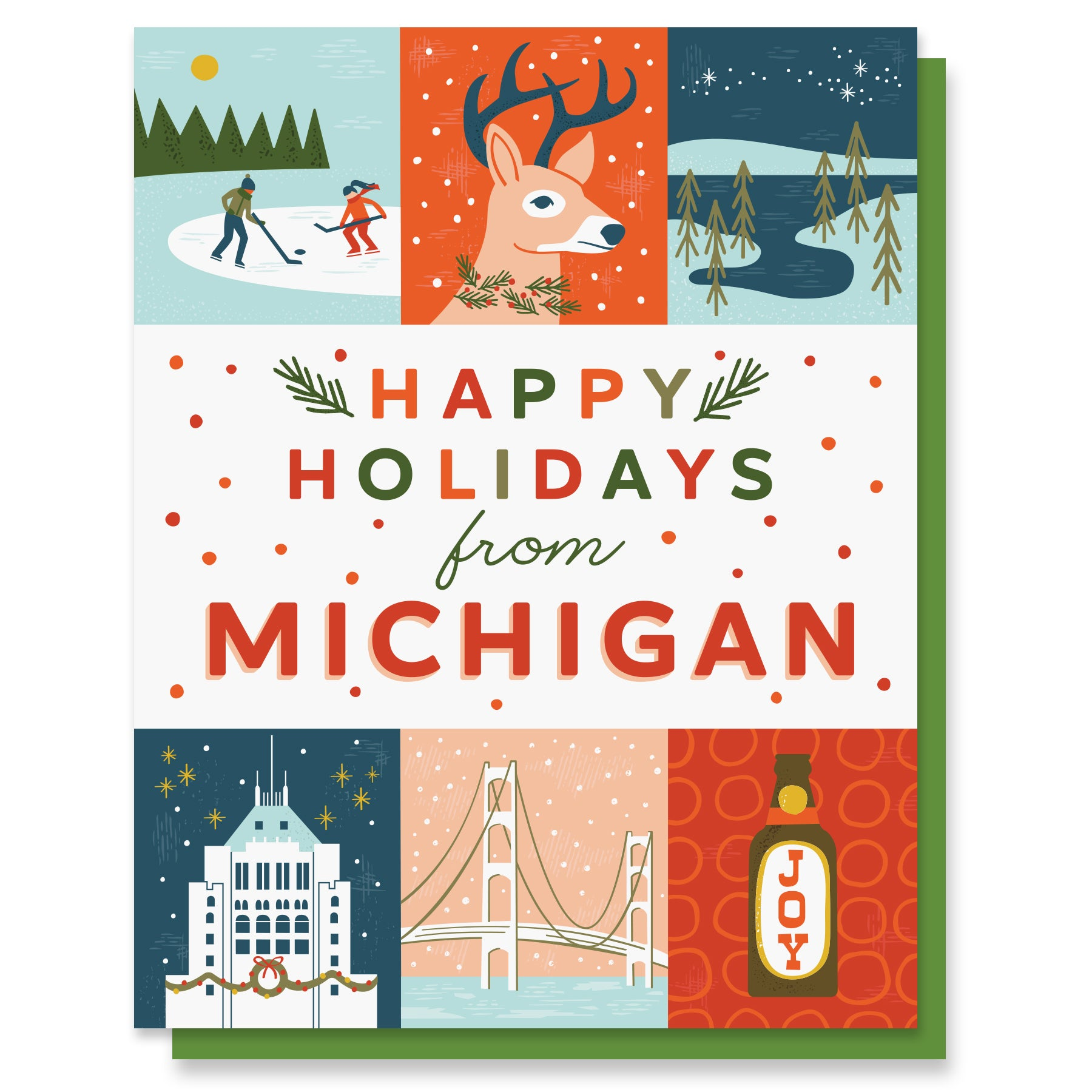 Michigan Holiday Grid Card