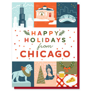 Chicago Holiday Grid Card