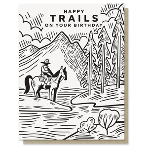Happy Trails Birthday Card