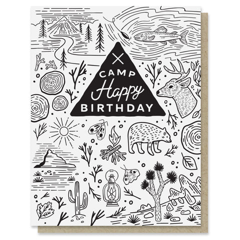 Camp Happy Birthday Card