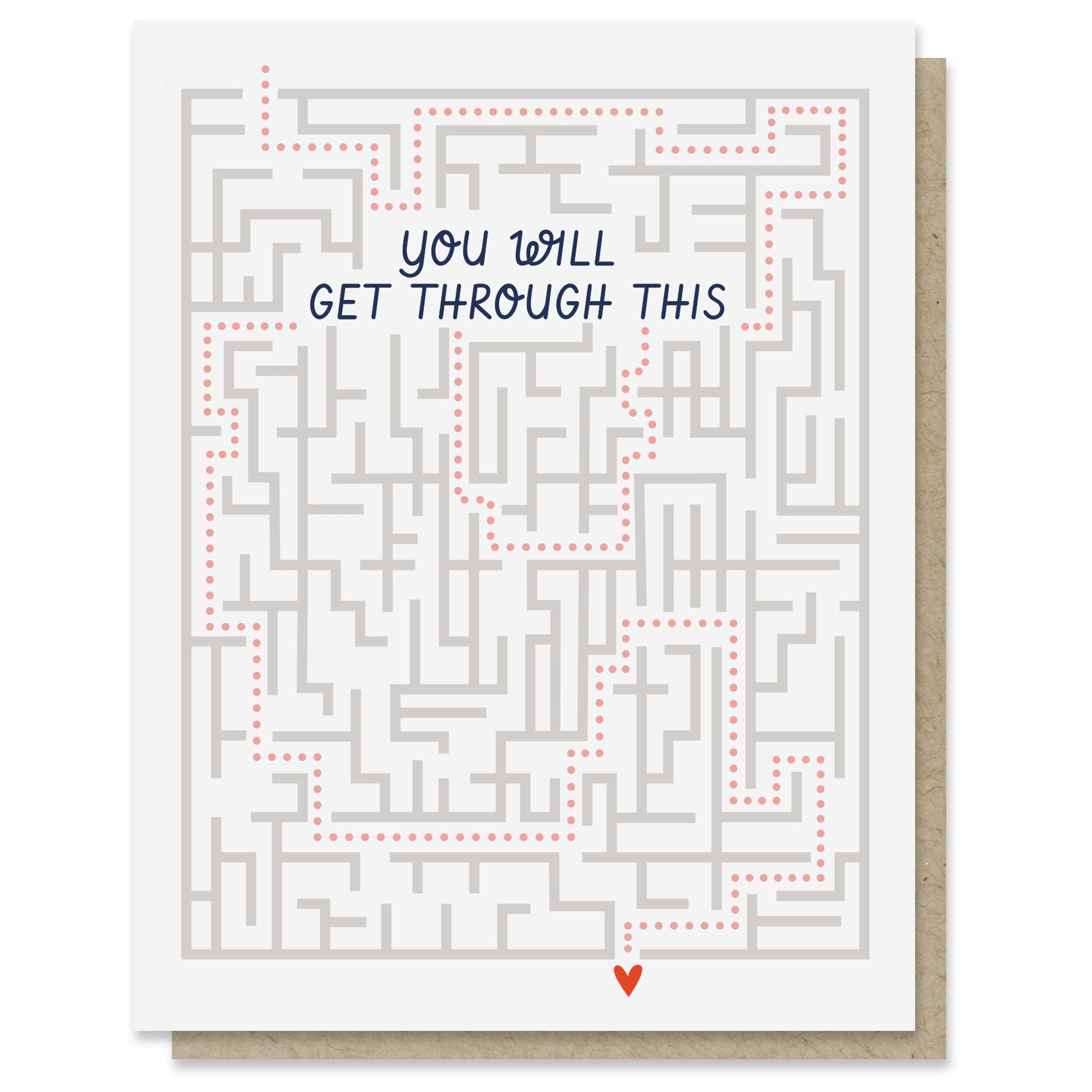 Get Through This Maze Card