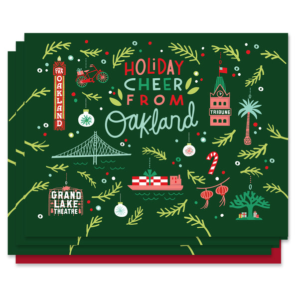 Oakland Ornaments Holiday Card