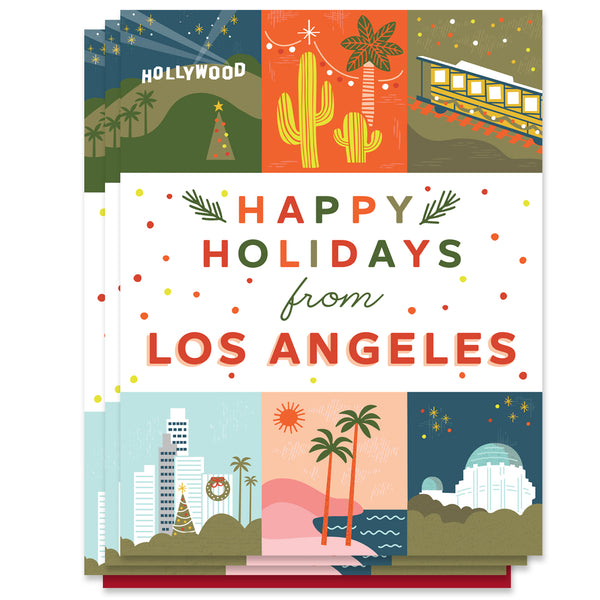 Los Angeles Holiday Grid Card
