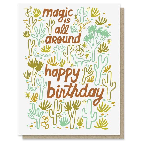 Desert Magic Birthday Card