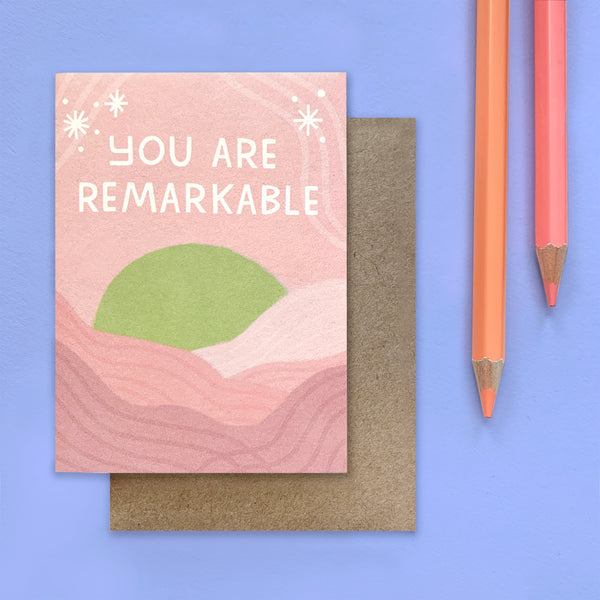 You Are Remarkable Mini Card