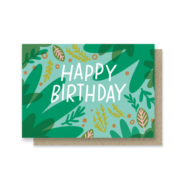 Green Friends Birthday Mini Card