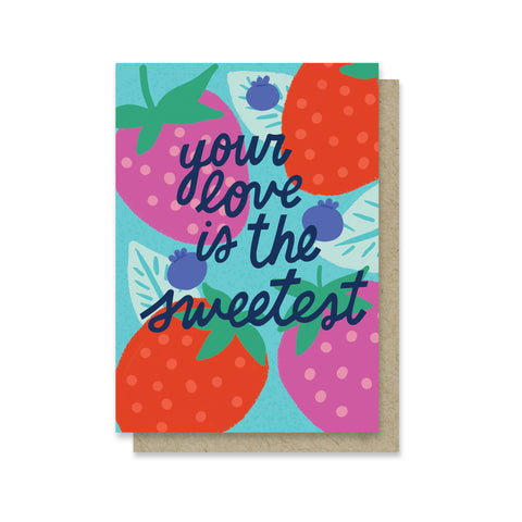 Love is the Sweetest Mini Card