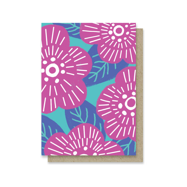 Magenta Florals Mini Card