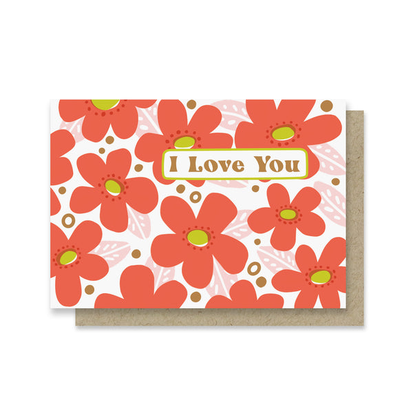 Love You Blooms Mini Card
