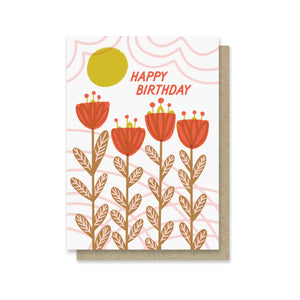 Summery Blooms Mini Card