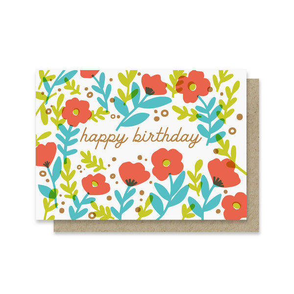Field of Birthday Flowers Mini Card