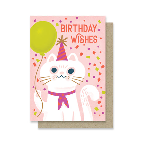 Cat Wishes Birthday Mini Card