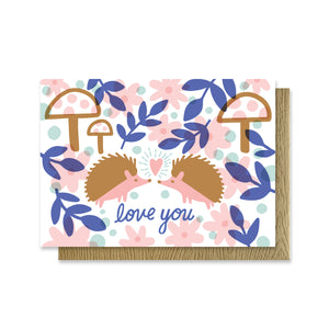 Hedgehog Garden Love Mini Card