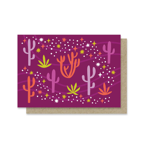 Desert Stars Blank Mini Card