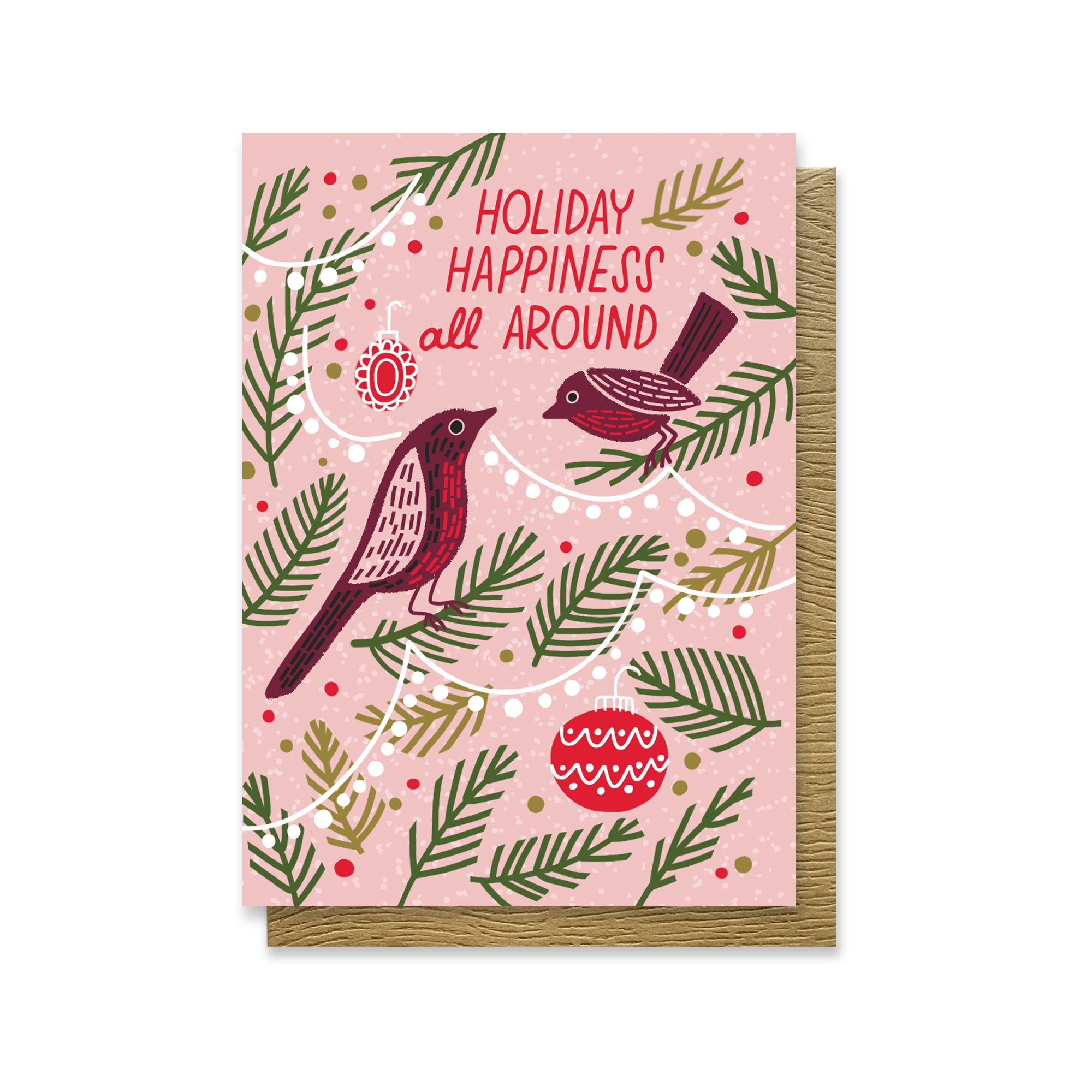 Holiday Happiness Birds Mini Card