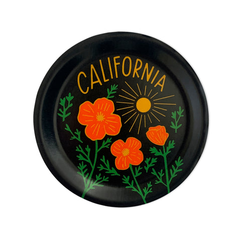 California Poppy Sun Black Mini Tray