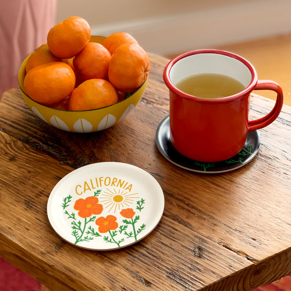 California Poppy Sun White Mini Tray - SECONDS