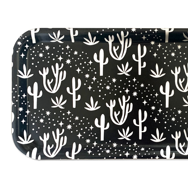 Desert Stars Long Tray in Black