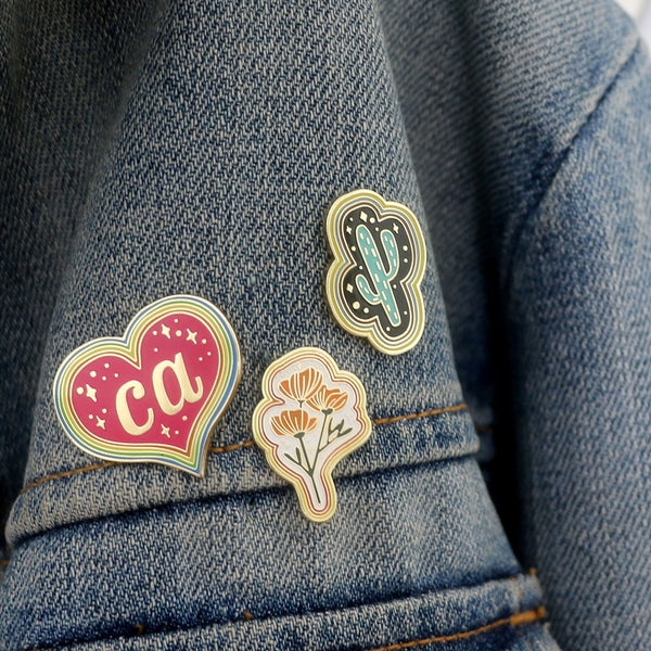 Seconds of California Heart Pin