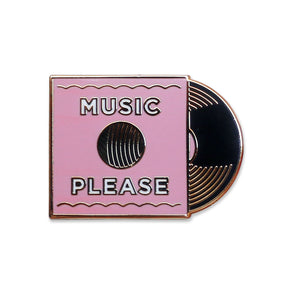 Pink Music Please Pin