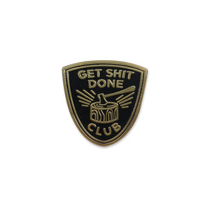 SECONDS - Get Shit Done Lapel Pin